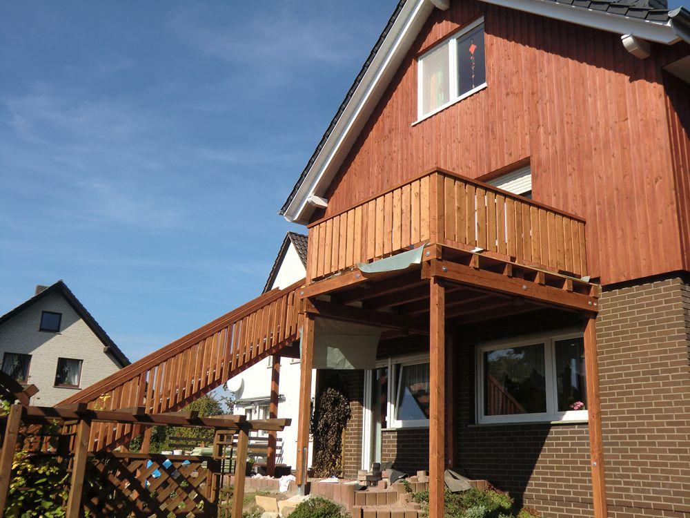 referenz balkon zwischen minden b ckeburg ort rusbend zimmerei weihmann. Black Bedroom Furniture Sets. Home Design Ideas